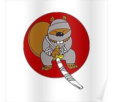 Ninja Beaver Poster