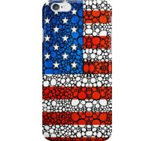 American Flag - USA Stone Rock'd Art United States Of America iPhone Case/Skin
