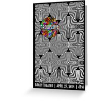 Grouplove Gig Poster Greeting Card