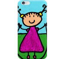 Happi Arte 7 - Girl On Jump Rope Art iPhone Case/Skin