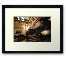 Stairwell & Piano Framed Print