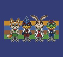 Star Fox Team Pixels by geekmythology