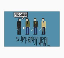 Supernatural Pixel With Cas Dean Sam and Crowley by JamesTiplady
