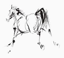Bucking Horse Illustration by PatiDesigns