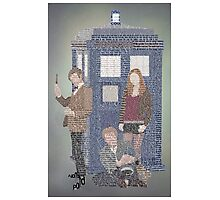 Doctor Who Eleventh Doctor Typoraphy Art Photographic Print