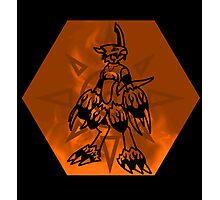Flamedramon The Fire Of Courage Photographic Print