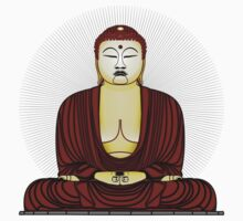 Buddha in praying Kids Clothes