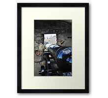 Looking out over a canon from Edinburgh Castle Framed Print