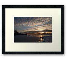 New Day on Ice - Sunrise on Lake Ontario  Framed Print