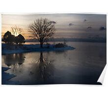 Gray Reflections and Ice Patches Poster