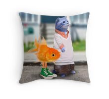 The Amazing World of Gumball in real life Throw Pillow