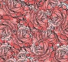 Rose Pattern by drawingsheep