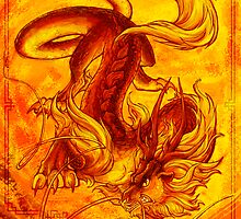 Elemental Dragon - Fire by anticia