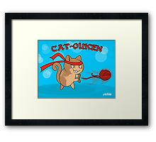 Cat-Ouken  (with Text) Framed Print