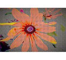 Light orange flower design Photographic Print