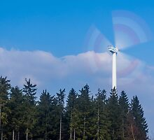 Wind turbine near Kniebis, Black Forest, Germany by Mark Bangert