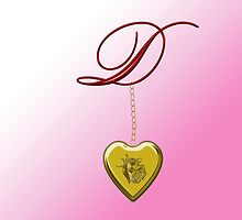 D Golden Heart Locket by Chere Lei