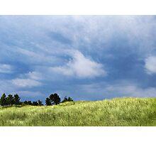 Storm Over Grassy Dunes Photographic Print