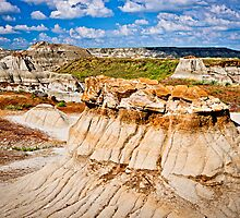 Badlands in Alberta, Canada by Elena Elisseeva