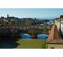 The Bridges of Florence, Italy Photographic Print