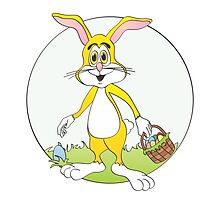 Easter Bunny Yellow Rabbit Cartoon by Graphxpro