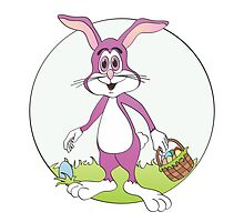 Easter Bunny Purple Rabbit Cartoon by Graphxpro