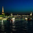 Eiffel at night by bposs98