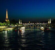 Eiffel at night by bposs98