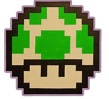 'Super Mario Bros. 3' 1-Up Mushroom by ThePixelDad