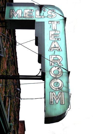 Mel's Tearoom Sign © by Ethna Gillespie