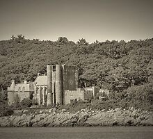 Famous Hammond castle in black and white by Eti Reid