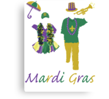 Carnival Time (Mardi Gras) Canvas Print