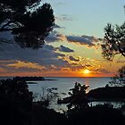 Sunset in Vrsar - Croatia by Arie Koene