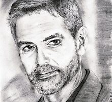 george clooney... pencil by danijelg