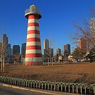 Lefrak Point lighthouse Jersey City Newport by pmarella