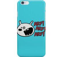 The dog barks: ARF, ARF, ARF! iPhone Case/Skin