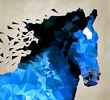Abstract horse of geometric shape, symbol 2014 by AndrewBzh