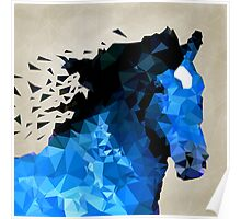 Abstract horse of geometric shape, symbol 2014 Poster