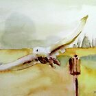 Snowy Owl Watercolor Sketch by watercolors1
