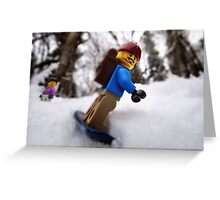 Finally some lowland snow! Greeting Card