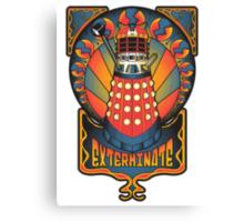 Dalek Nouveau Canvas Print