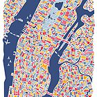 New York City Map by Vianina