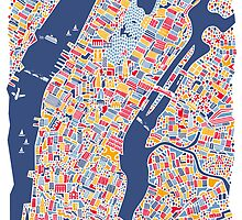 New York City Map Poster by Vianina