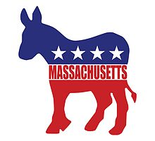 Massachusetts Democrat Donkey by Democrat
