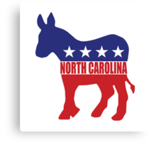 North Carolina Democrat Donkey Canvas Print
