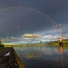 Somewhere Over the Rainbow  Canberra Balloon Spectacular 2014 by Kym Bradley