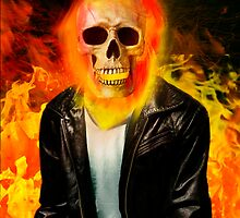 Interpretation of comics / Ghostrider by GDucroq