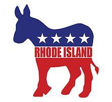 Rhode Island Democrat Donkey by Democrat