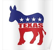 Texas Democrat Donkey Poster