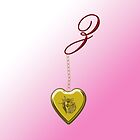 Z Golden Heart Locket by Chere Lei